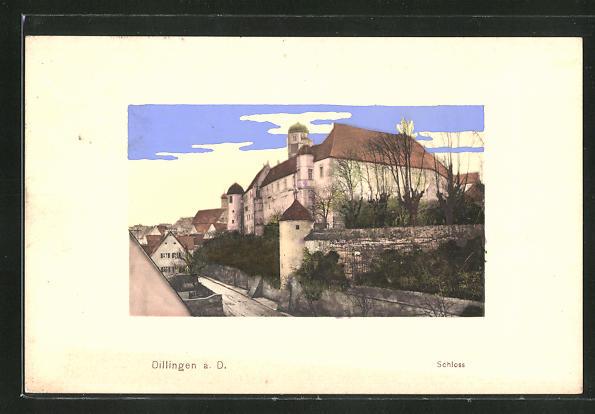 AK Dillingen a. D., Blick zum Schloss 0