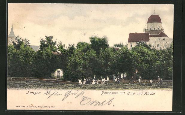 AK Lenzen, Burg und Kirche 0