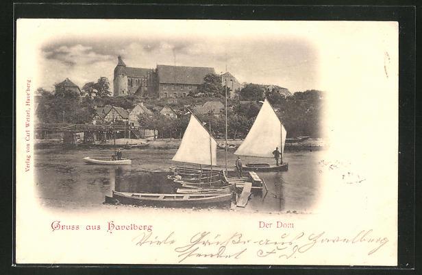 AK Havelberg, Segelboote am Dom 0