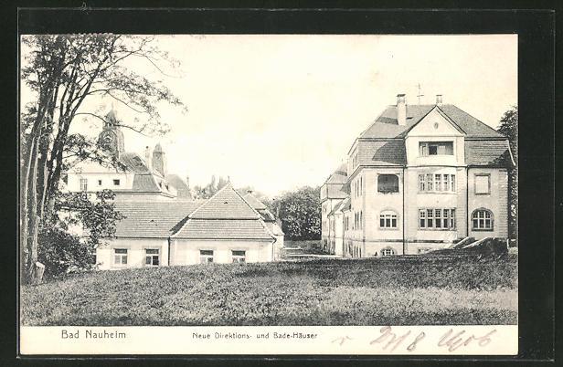 AK Bad Nauheim, neue Direktions- und Bade-Häuser 0