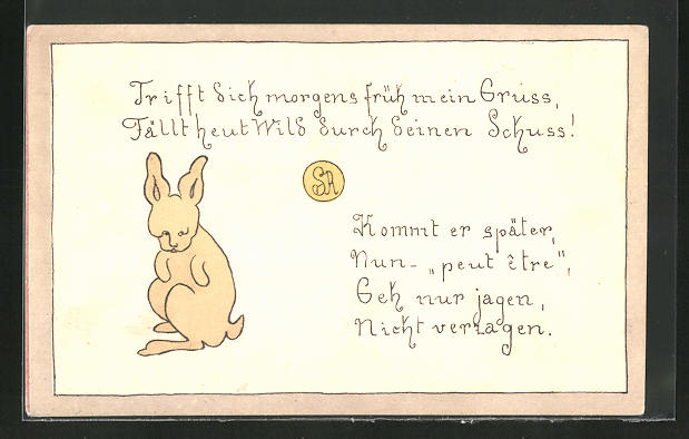 trauriger hase