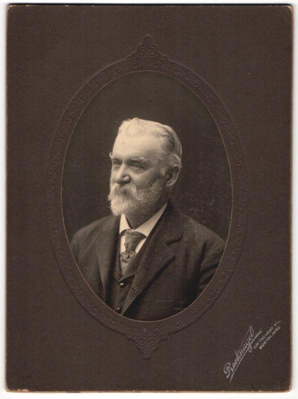 Fotografie Reeknagel, Boston / Mass., Portrait Edelmann mit Vollbart trägt Anzug