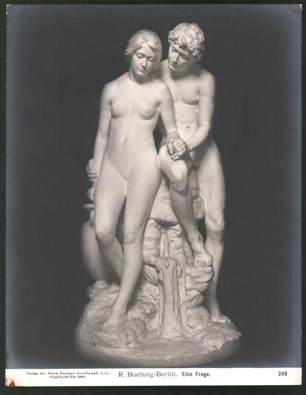 Fotografie NPG-Berlin-Steglitz, Nr. 249, Statue R. Boeltzig-Berlin, Eine Frage
