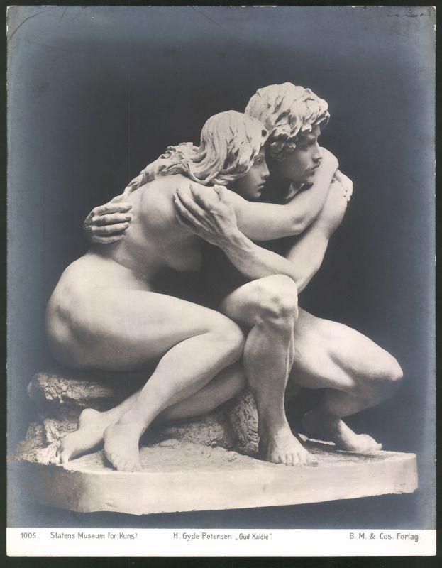 Fotografie Statens Museum for Kunst, Statue H. Gyde Petersen