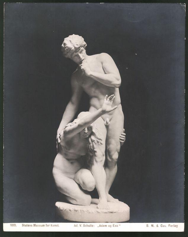 Fotografie Statens Museum for Kunst, Statue Jul. v. Schultz