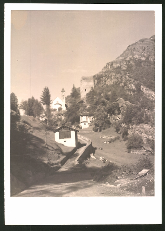 Fotografie Fotograf unbekannt, Ansicht Maloja, Turm Belvedere am Malojapass