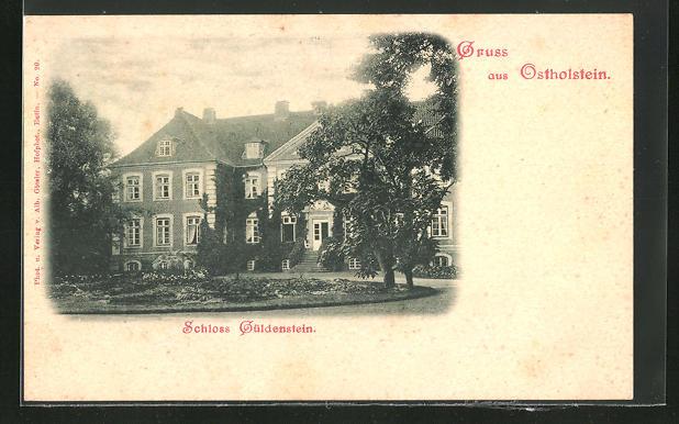 AK Harmsdorf, Blick auf Schloss Güldenstein