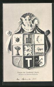 AK Glücksburg, Wappen der Landschaft Angeln