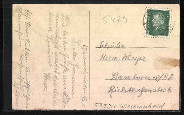 AK Adenau, Marienheim a.d. Nürburg, Schullandheim und Pension 1