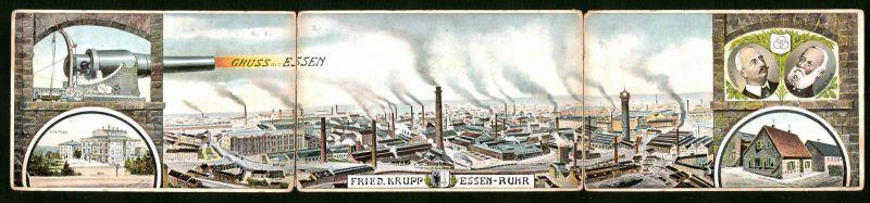 Klapp-AK Essen, Fried. Krupp gussstahlfabrik, Villa Hügel, Stammhaus, Portrait
