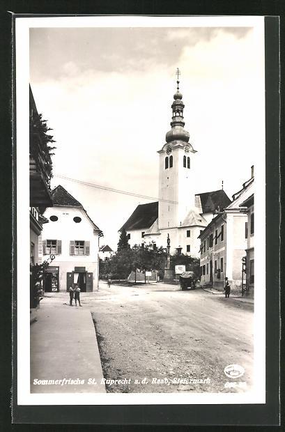AK St. Ruprecht a. Raab, Strassenpartie im Ort