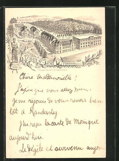 Vertreterkarte Fribourg, Villa St. Jean, Gebäudeansicht