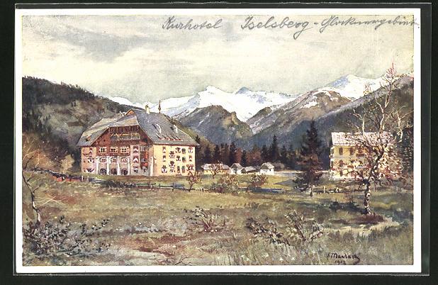 Künstler-AK Iselsberg, Kurhotel Bad Iselsberg