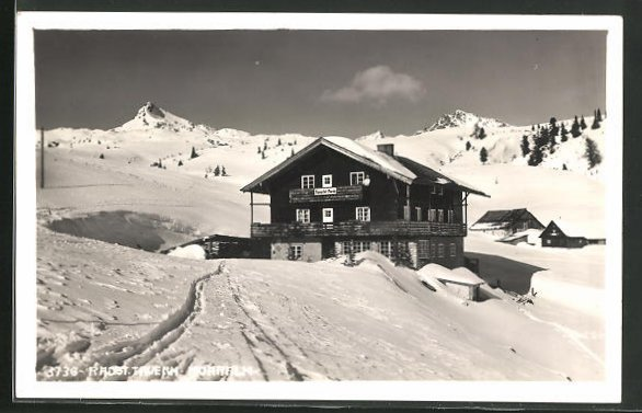 AK Radst. Tauern, Gasthaus Mohralm im Winter