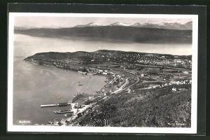 AK Narvik, Totalansicht aus der Vogelschau