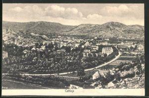 AK Cetinje / Cettigne, Gesamtansicht aus der Vogelschau