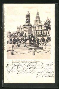 AK Krakau-Krakow, Pomnik Adama Mickiewicza