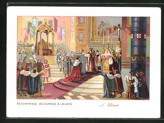 Sammelbild Recompense Decernee A Le Leve, Le Couronnement de Baudouin de Constantinople