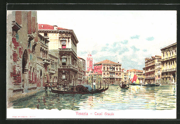 Sammelbild Loeflunds diaetische Präparate, Venedig-Venezia, Canal Grande, Gondel