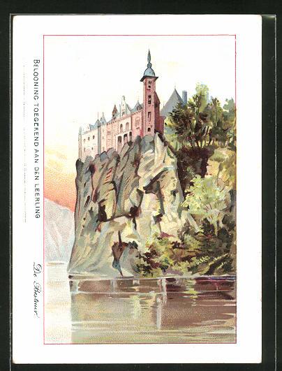 Sammelbild Stad Brussel, Lagere gemeetescholen, 32 De vallei van de Lesse, Het kasteel van Walzin