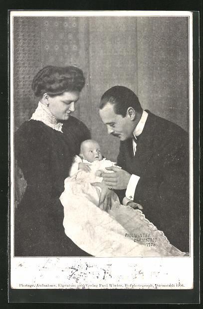 AK Herzog von Hessen-Darmstadt mit Familie