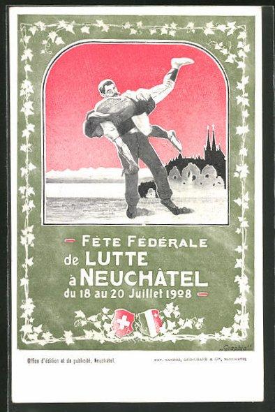 AK Neuchatel, Fete Federale 1908, Ringer