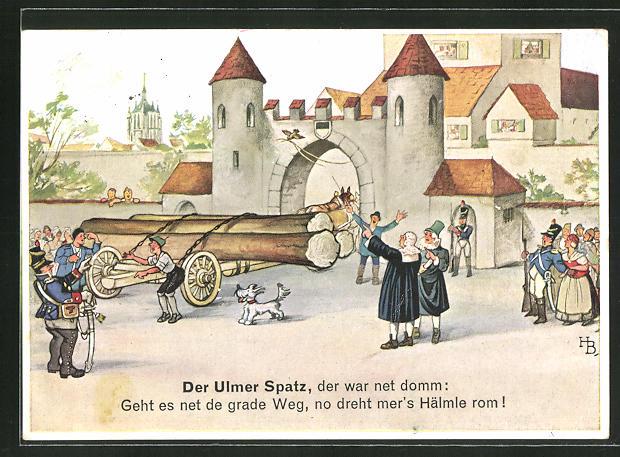 Künstler-AK Hans Boettcher: der Ulmer Spatz