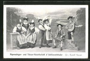 AK Alpensänger- und Tänzer-Gesellschaft d' Schlierachthaler, Dir. Rudolf Hauser