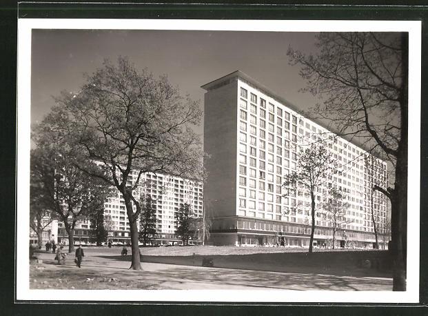 AK Hamburg, Wohnhochhäuser am Grindel, Blick von der Oberstrasse