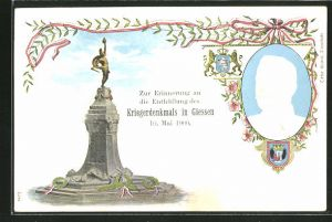 Präge-Lithographie Giessen, Erinnerung an die Enthüllung des Kriegerdenkmals 1900