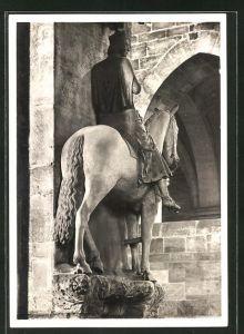 Foto-AK Walter Hege: Deutscher Kunstverlag, Berlin, Bamberg, Dom, Der reiter um 1250