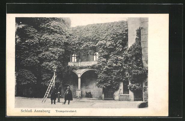 AK Annaburg, Trompeterstand im Schloss Annaburg