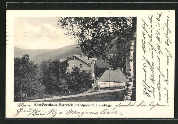 AK Bärenfels / Erz., Altes Forsthaus