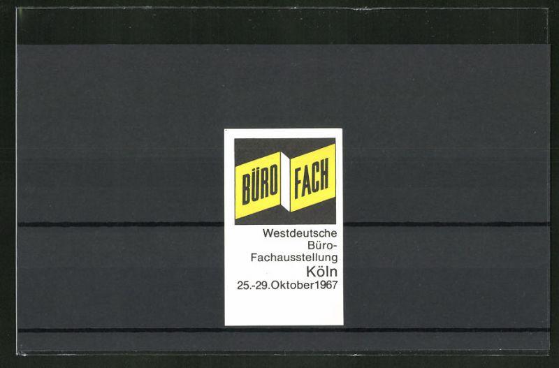 Reklamemarke Köln, Westdeutsche Büro-Fachausstellung 1967, Messelogo