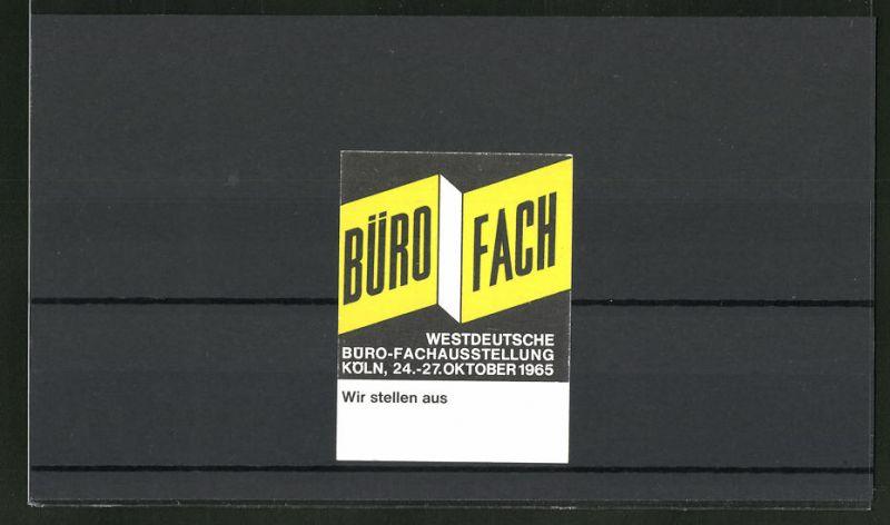 Reklamemarke Köln, Westdeutsche Büro-Fachausstellung 1965, Messelogo