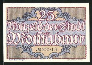 Notgeld Montabaur 1920, 25 Pfennig, Schloss