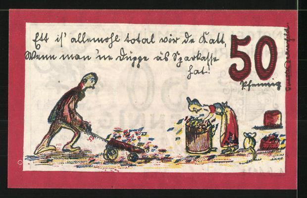Notgeld Ennigerloh 1921 50 Pfennig Stadtwappen Und Teufel Bürger