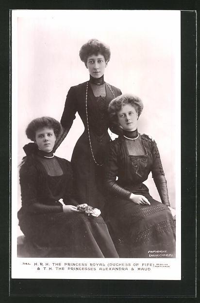 AK The Princess Royal (Duchess of Fife) & the Princesses Alexandra & Maud