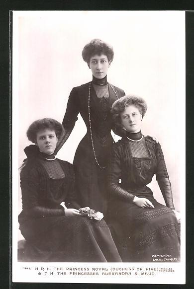 AK Königshaus von England, The Prinvess Royal & the Princesses Alexandra & Maud