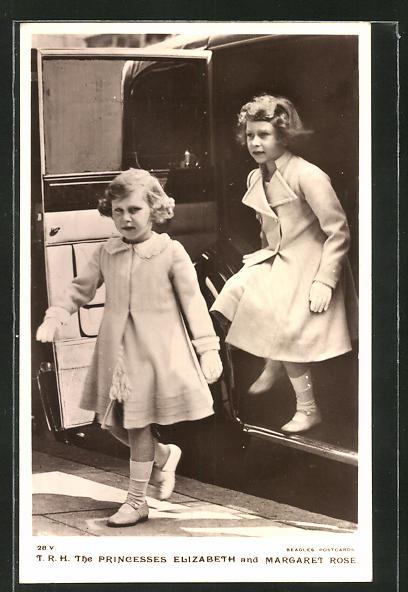 AK Königshaus von England, The Princesses Elizabeth and Margaret Rose