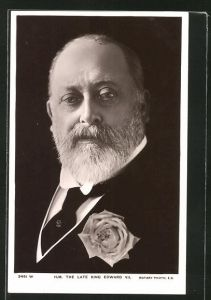 AK The late King Edward VII., König Edward VII. von England mit Rose am Revers