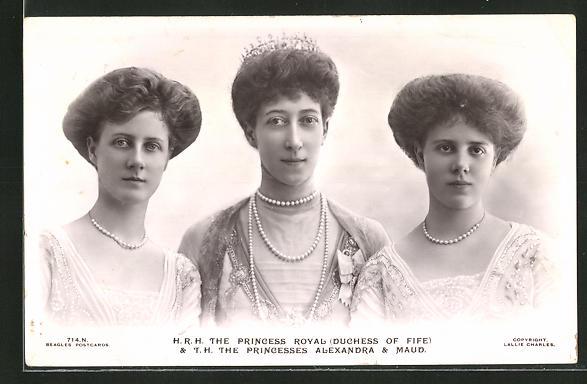 AK The Royal Princesses with the Princesses Alexandra & Maud