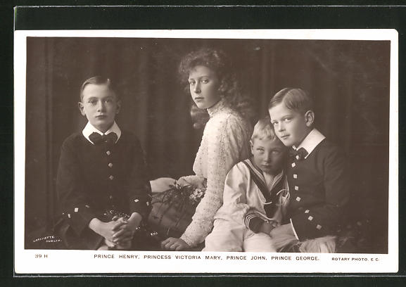 AK Prince Henry, Princess Victoria Mary, Prince John and Prince George