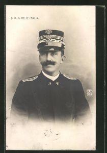 AK S. M. Il Re d'Italia, König von Italien in Uniform