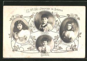 AK I Principi di Savoia: Jolanda, Giovanna, Mafalda & Umberto