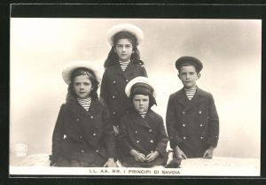 AK Portrait I Principi di Savoia als Kinder im Matrosenanzug