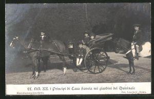 AK I Principi di Casa Savoia nei giardini del Quirinale