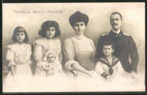 AK Famiglia Reale Italiana, Königsfamilie von Italien