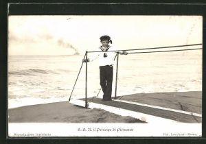 AK S.A.R. il Principe di Piemonte im Matrosenanzug