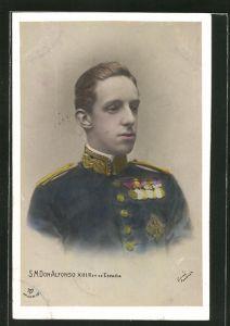 AK König Alfons XIII. von Spanien, Don Alfonso XIII., Rey de Espana